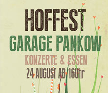 Cartel para la fiesta de verano de Garage Pankow