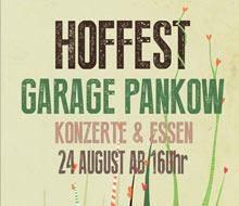 Plakat Hoffest Garage Pankow