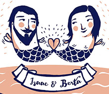 ISAAC & BERTA MET ON THE BEACH